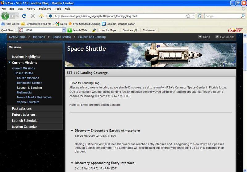 NASA shuttle SST 119