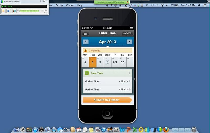Workday 19 iPhone screen