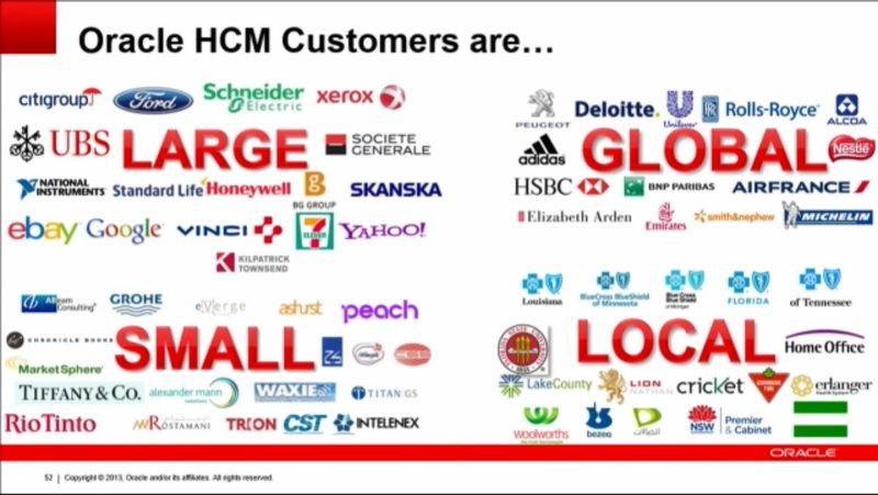 Oracle HCM customers