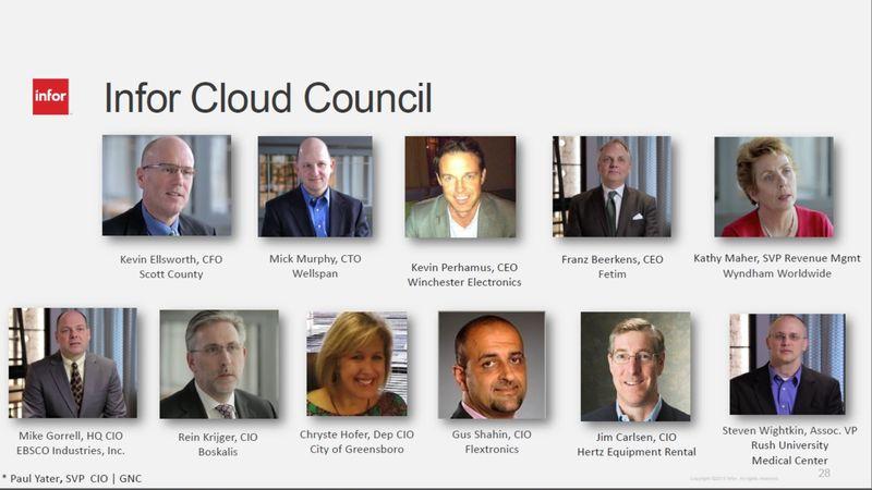 Infor cloud council